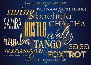 gift certificates for ballroom dance lessons.