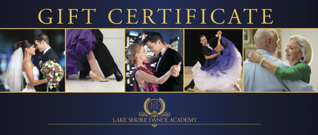 gift certificates for ballroom dance lessons